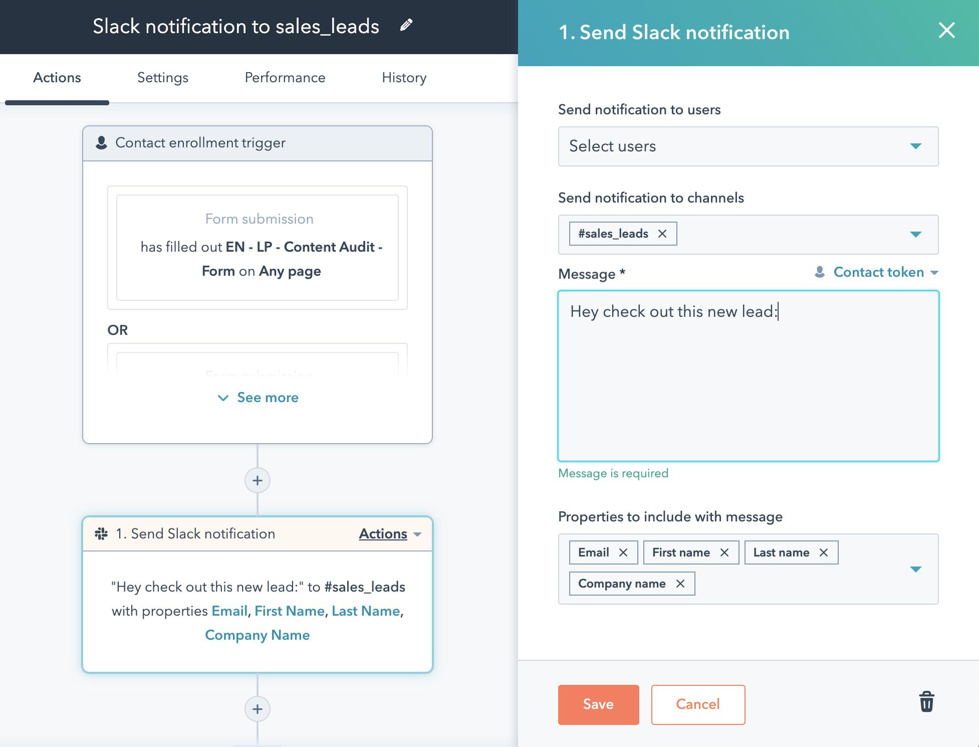 Slack-HubSpot-workflow