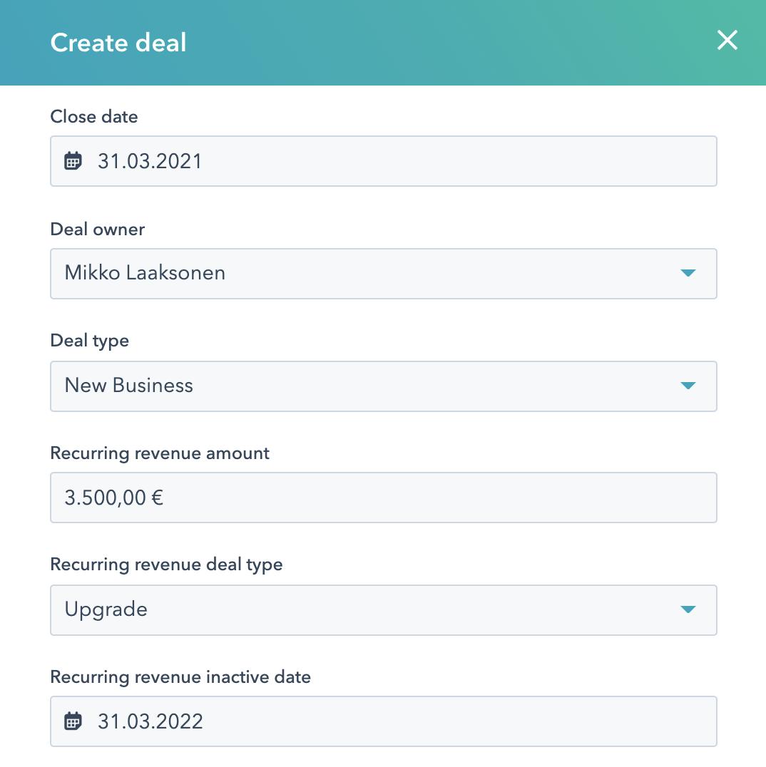 create deal